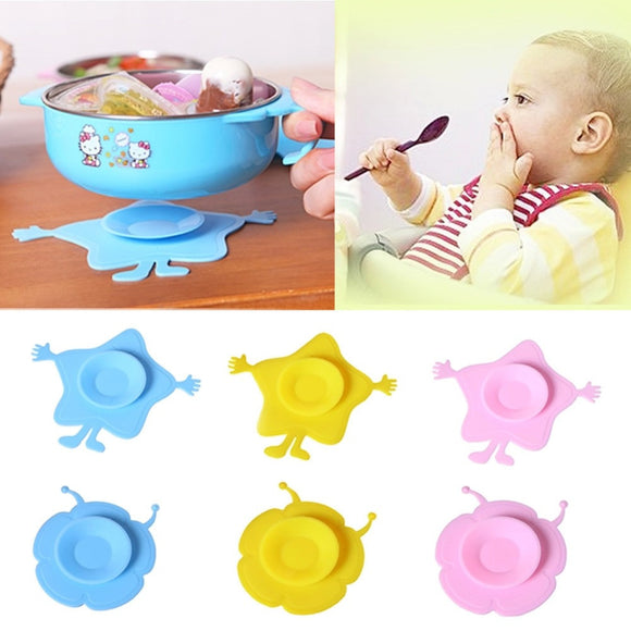 Hot Sale!! Silicone Pad Baby Antiskid Feeding Bowl Mat