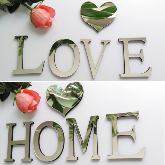 10cmx8cmx0.7cm(thick) 3D Mirror Home Decoration Wall Sticker