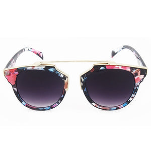 Womens Vintage Retro Cat Eye Round Sunglasses