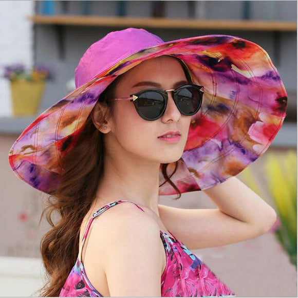 Foldable Brimmed UV Protection Large Beach Hat