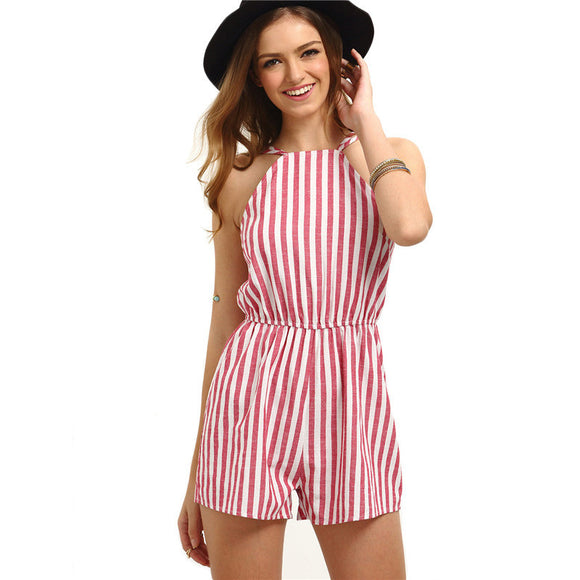 Sleeveless Summer Style Beach Rompers