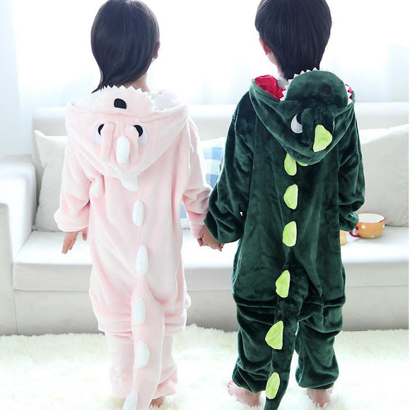 Cute Full Hooded The Dinosaur Design Rompers