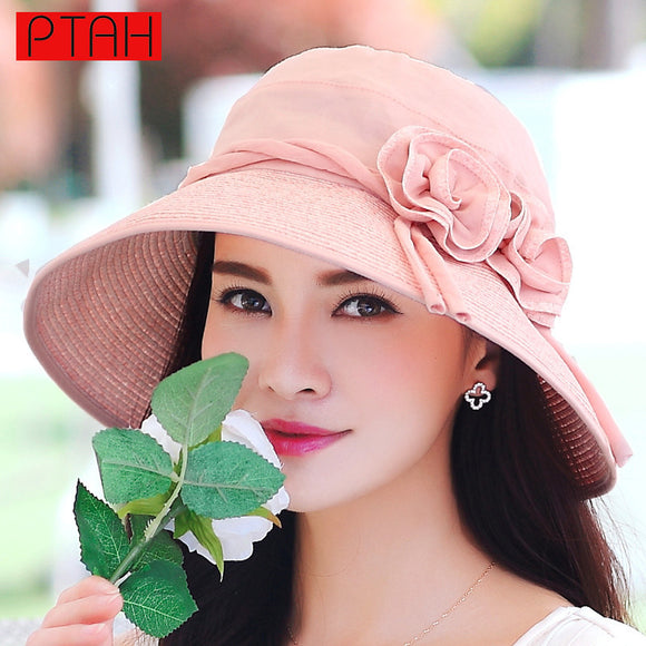 Foldable Wide Brim Floppy Beach Sun Hat
