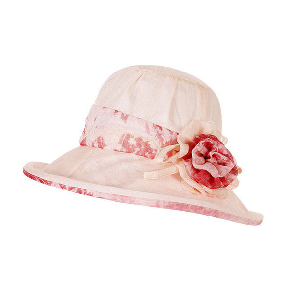 Summer Floral Wide Brim Sun Hat