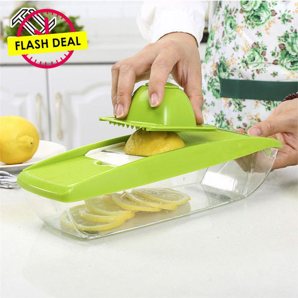 Adjustable 5 Interchangeable Stainless Steel Fruit Cutter Blades
