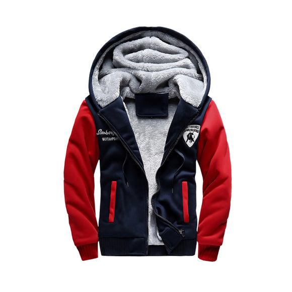 Thick Fleece Zipper Hooded Jacket