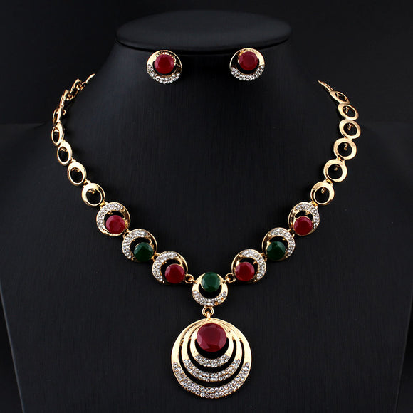 Luxury Round Jewelry Set