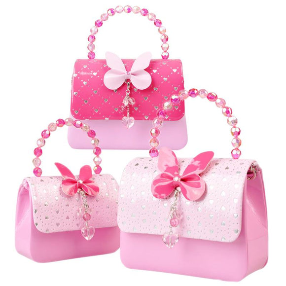Princess Bead Handle Satchel Shoulder Bags