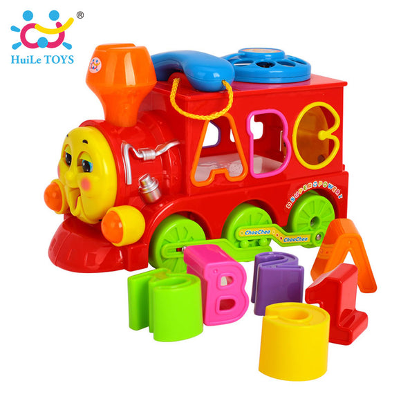 Bump & Go Train with Lights & Music Block Letters/Shape Toy