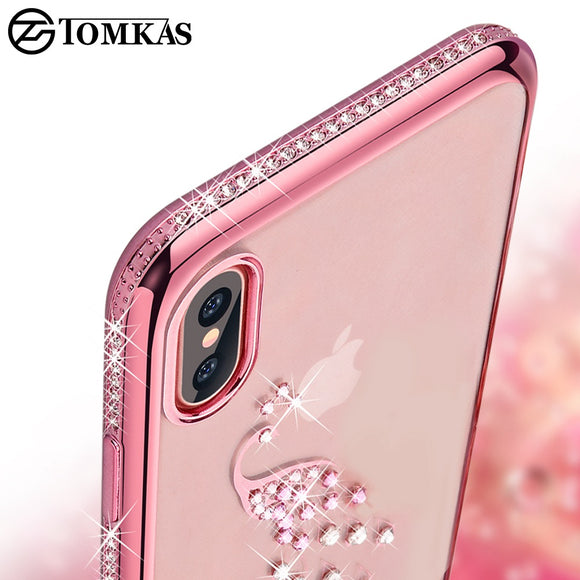 Rhinestone Cases For iPhone X