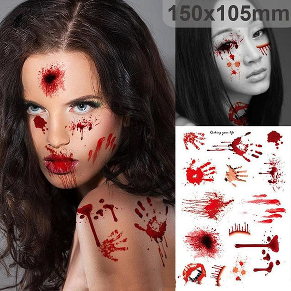 Halloween Scars Tattoos With Fake Scab Bloody Costume Makeup