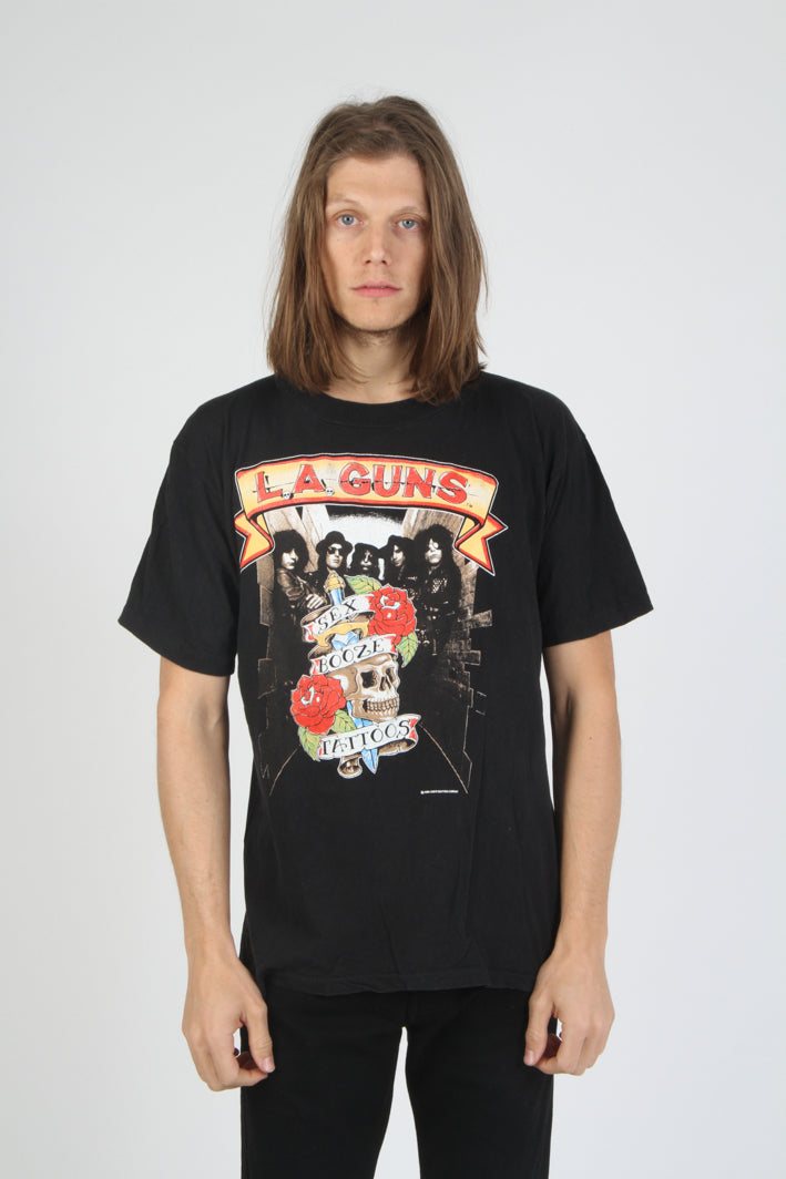 LA Guns Vintage 1989-90 Sex Booze & Tattoos Tour T Shirt