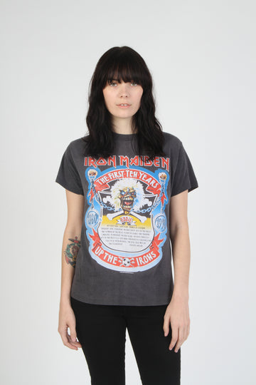 Vintage Iron Maiden 1990 10 Year Anniversary Tour T Shirt