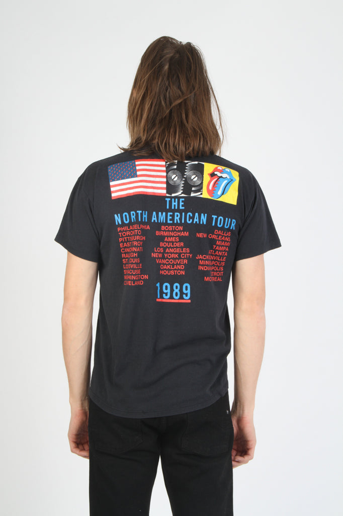 Vintage Rolling Stones 1989 Steel Wheels Tongue Graphic Tour Shirt