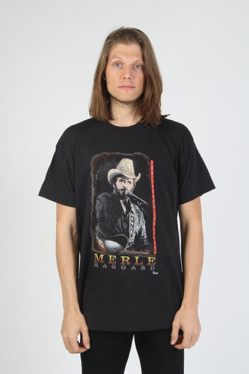 Vintage Merle Haggard 1980s Tour T Shirt