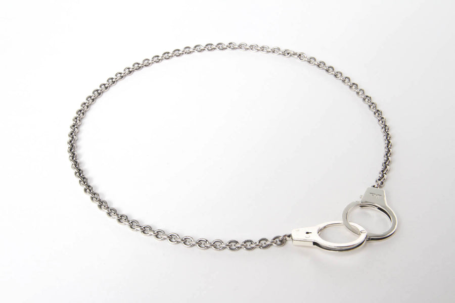 Kelly Cole Sterling Silver Functional Handcuff Necklace - Kelly Cole USA