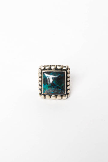 Kelly Cole Men's Turquoise Marquee Ring Size 9 - Kelly Cole USA