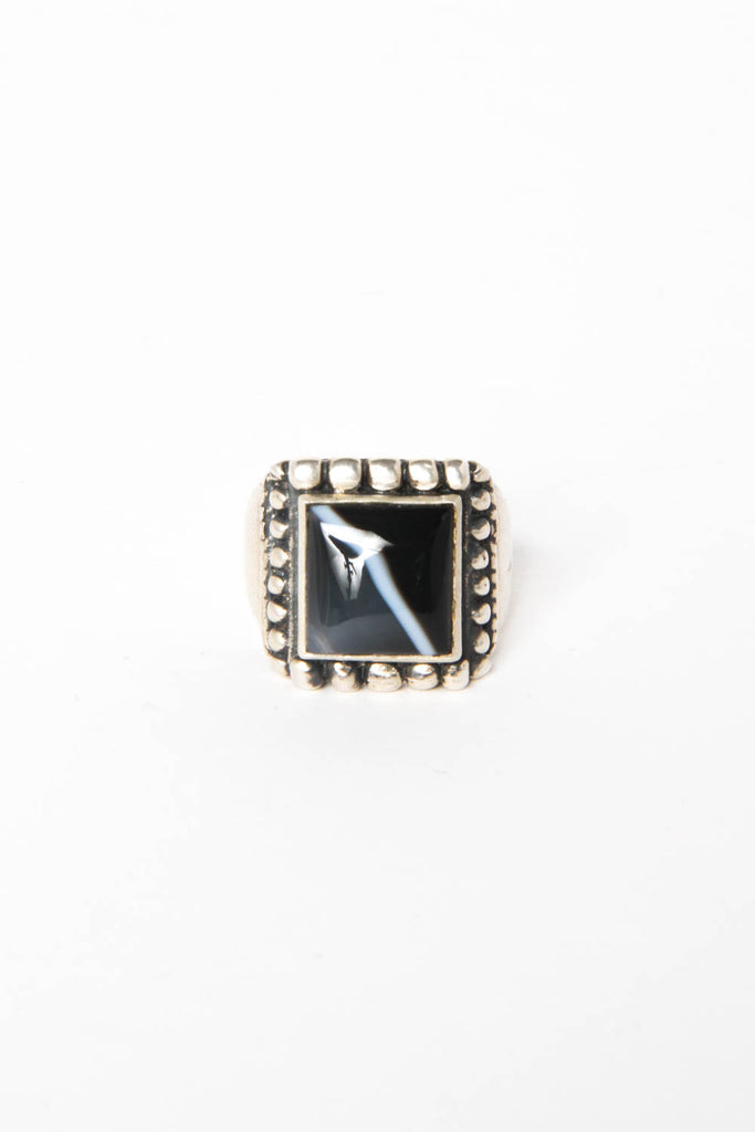 "Women's Black Onyx ""Marquee"" Ring Size 8"