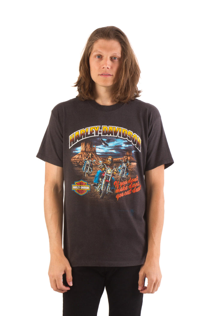"1987 Vintage HARLEY DAVIDSON ""Eat Dust"" T-Shirt"