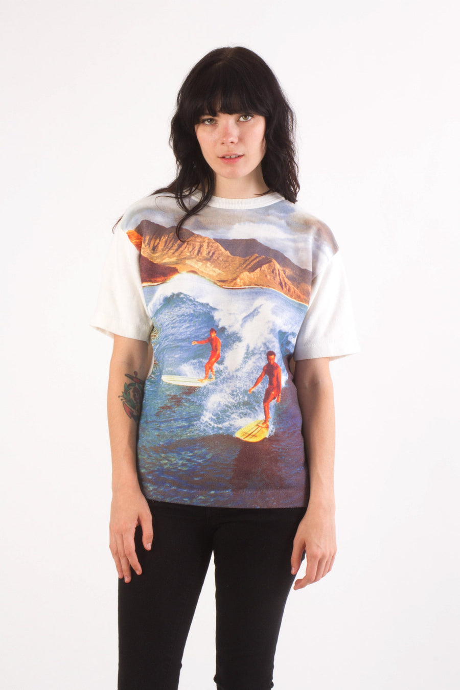 1970s Vintage SURF Photo Print Sweatshirt