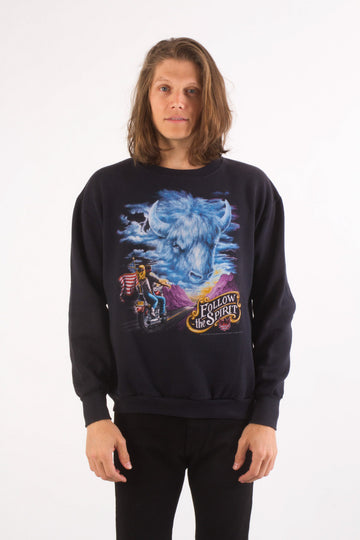 1992 Vintage FOLLOW THE SPIRIT Biker Sweatshirt