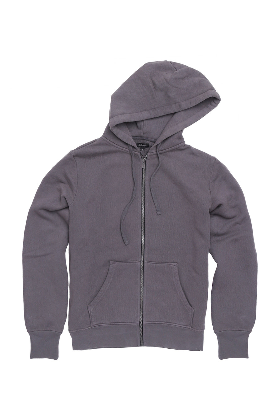 Fitted French Terry Hooded Sweatshirt - Grey