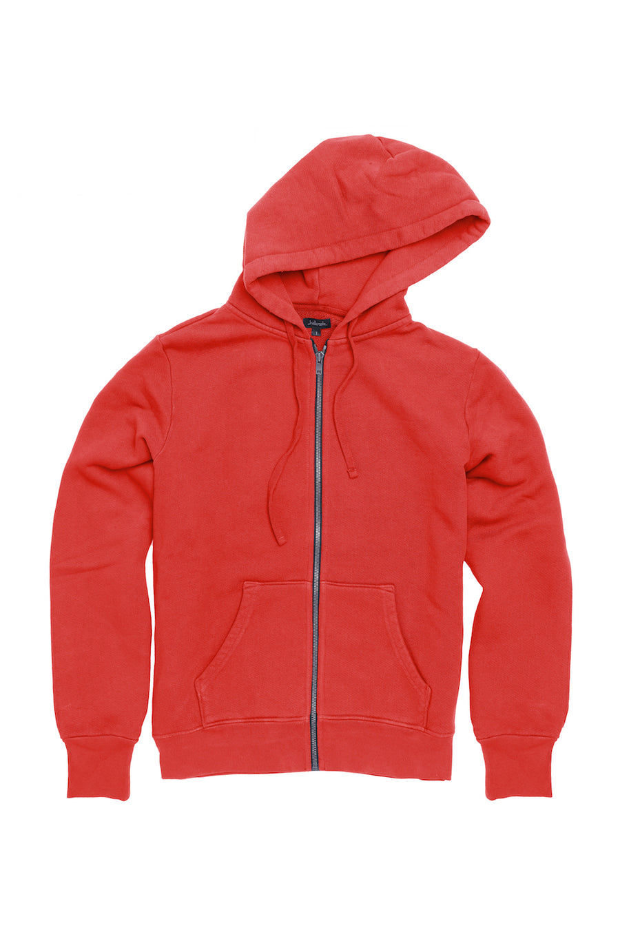 Fitted French Terry Hooded Sweatshirt - Brick