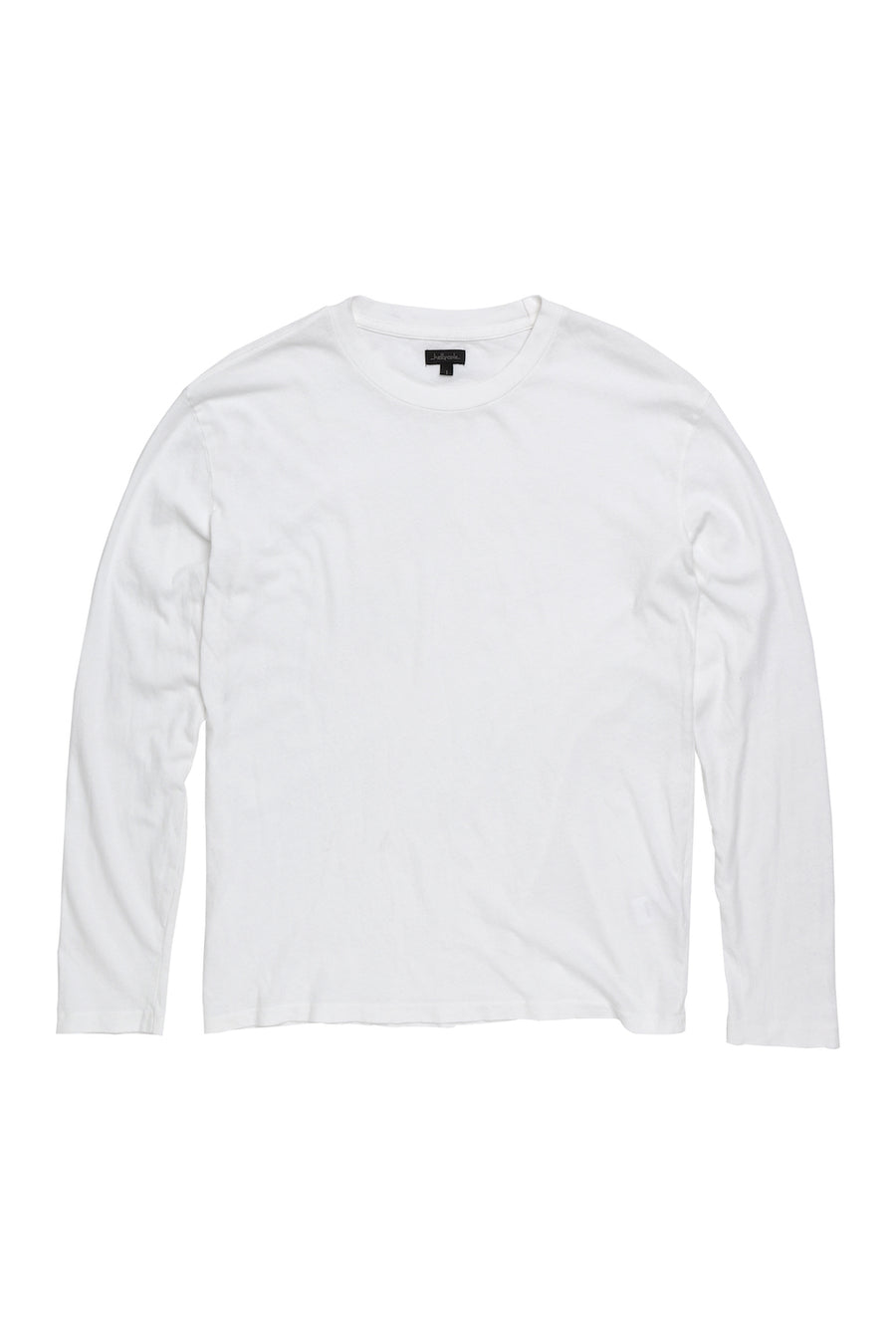 Long Sleeve Loose Knit Crewneck T Shirt - Optic White
