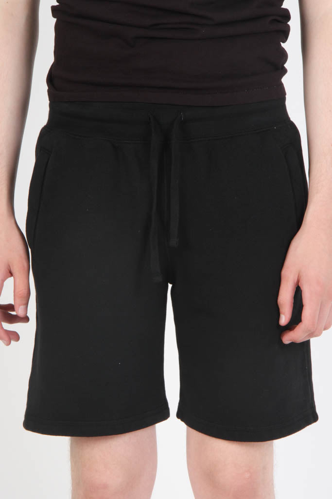 French Terry Fitted Shorts - Black
