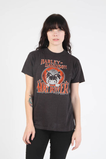 Vintage 1980s Harley Davidson Hog Power T Shirt