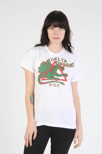 Vintage 1970s Delta Dragons T Shirt