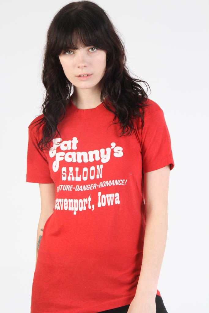 Vintage 1980s Fat Fanny's Saloon Novelty T Shirt