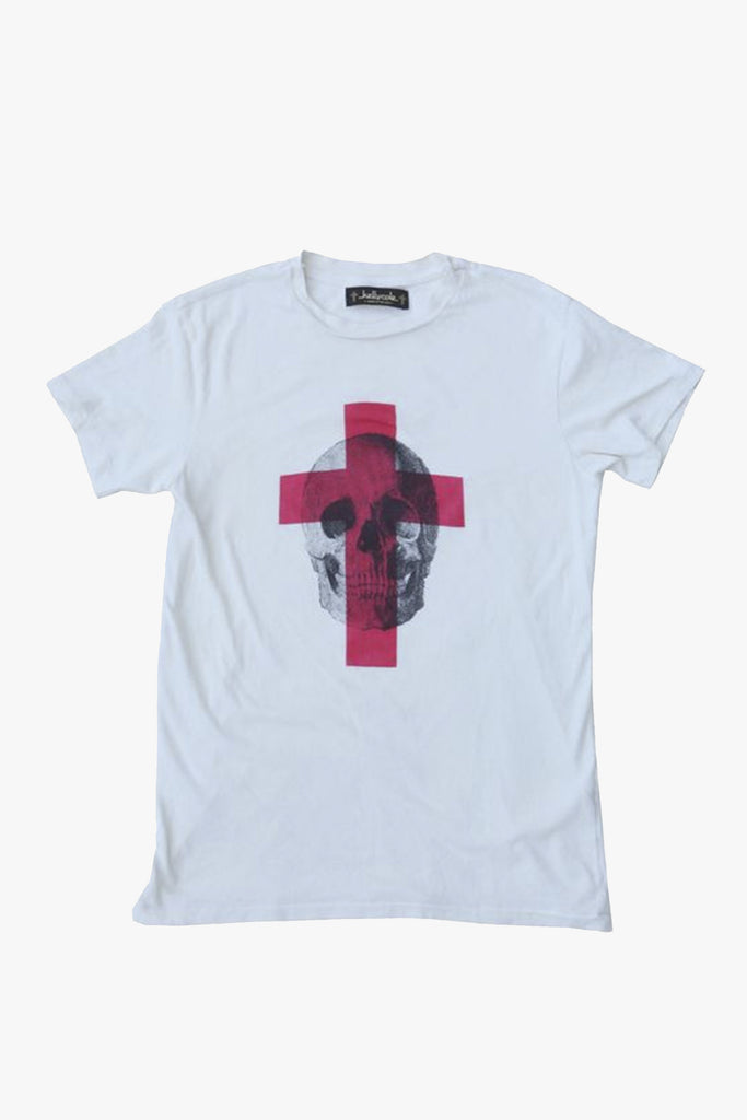 """Skull Cross"" Graphic Signature Crew Neck T Shirt"