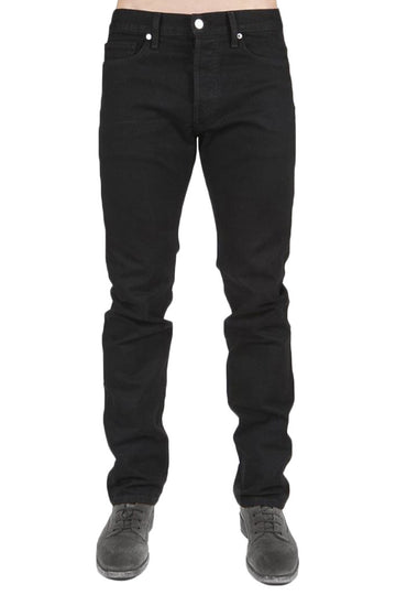 Men's Jet Black Slim Straight Denim - Kelly Cole USA