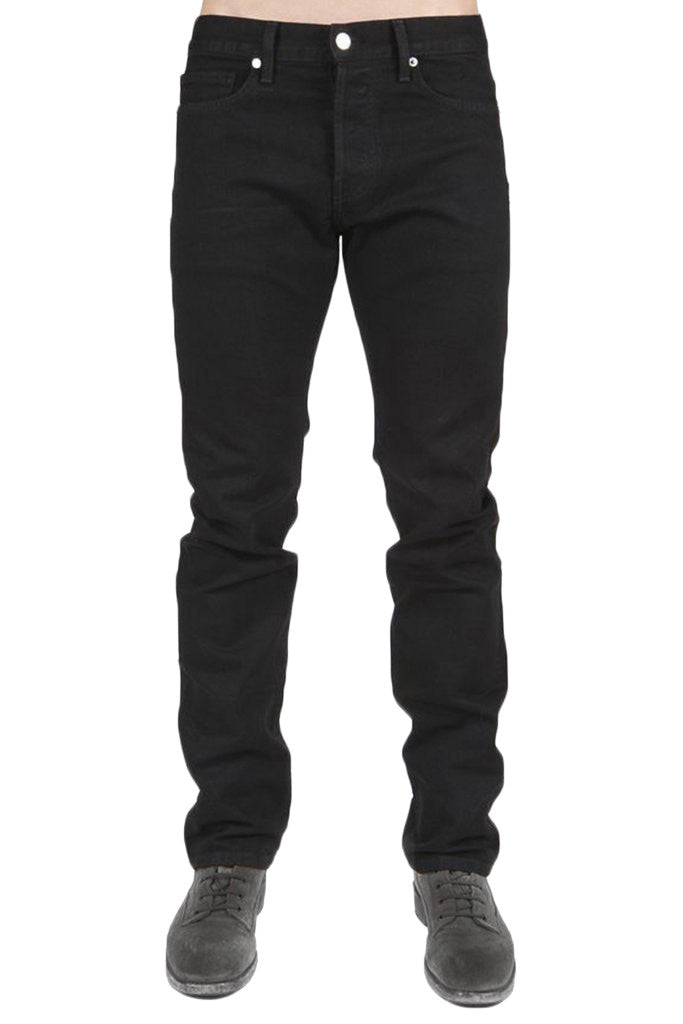 Men's Jet Black Slim Straight Denim