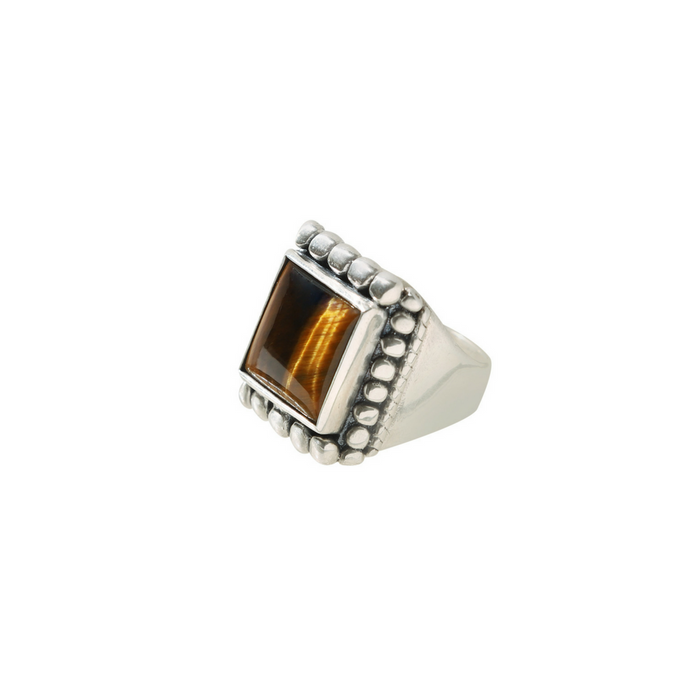 Kelly Cole Men's Tiger's Eye Marquee Ring Size 11