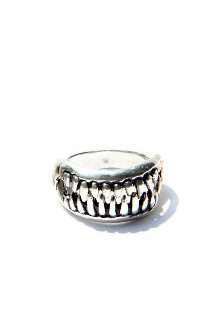 Silver Jaws Ring