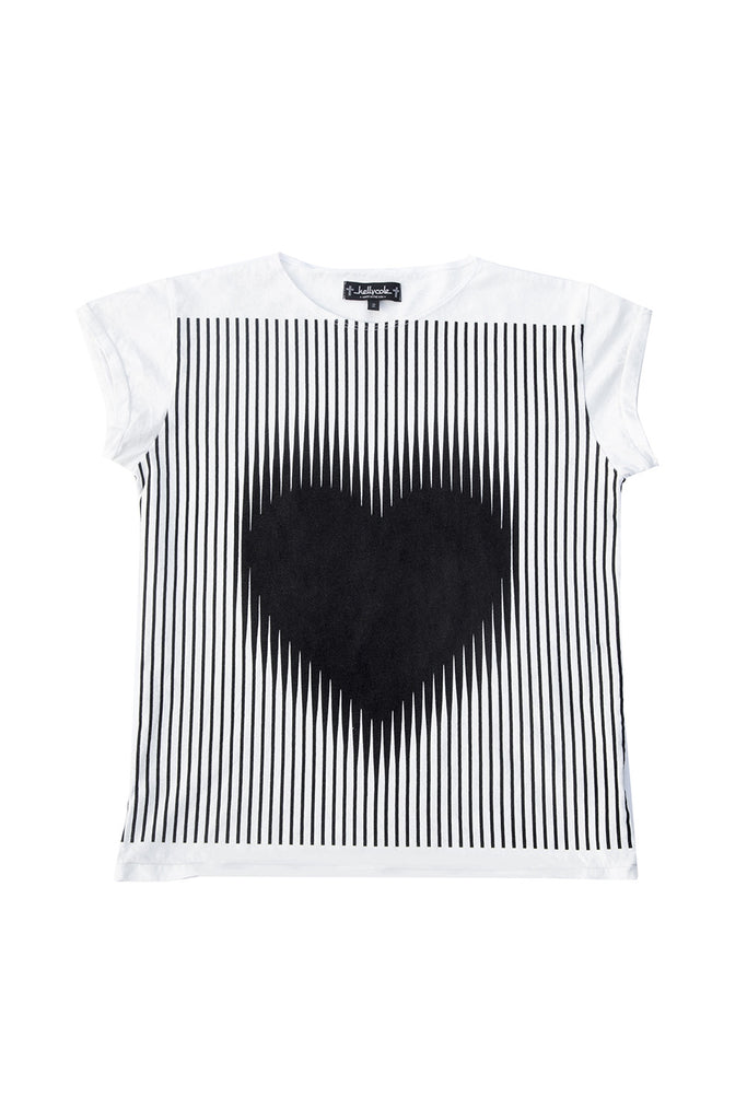 Kelly Cole Expanding Heart Graphic T Shirt