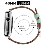 Premium Genuine Leather Band for Apple Watch 40mm/38mm Supreme Light Green - MifanGo.com