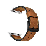 Mifan Genuine Leather Band for Apple Watch 40mm/38mm Dot Design Brown with Black Buckle - MifanGo.com