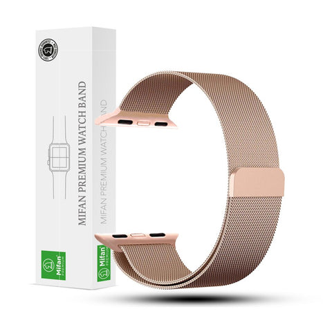 Mifan Official Milanese Loop Band for Apple Watch 44/42mm Series 1/2/3/4/5 Rose Gold - MifanGo.com