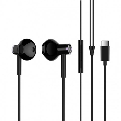 Original Xiaomi Type-C Earphone Dynamic Driver+Ceramics Driver In-ear Wired Headphone with Mic - Black - MifanGo.com