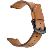 Genuine Leather Band 22mm Cutting Tail Brown for Samsung/Huawei/Garmin/Fossil - MifanGo.com