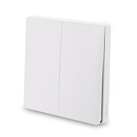 Aqara WXKG02LM Smart Light Switch Wireless Version Double Key ( Xiaomi Ecosystem Product ) - MifanGo.com