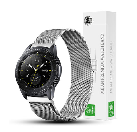 Mifan Milanese Loop Band 20mm Width Silver for Samsung/Huawei/Garmin/Fossil - MifanGo.com