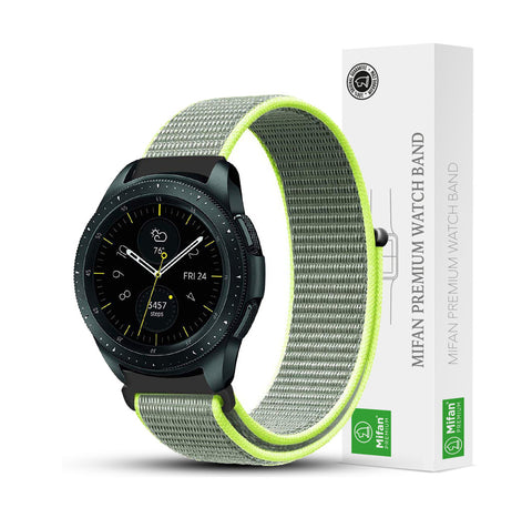 Mifan Nylon Loop Band 20mm Width Green Grey for Samsung/Huawei Garmin/Fossil - MifanGo.com