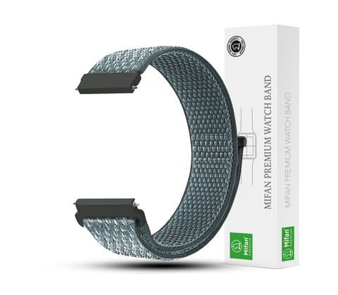 Mifan Nylon Loop Band 22mm Width Storm Grey for Samsung/Huawei Garmin/Fossil - MifanGo.com