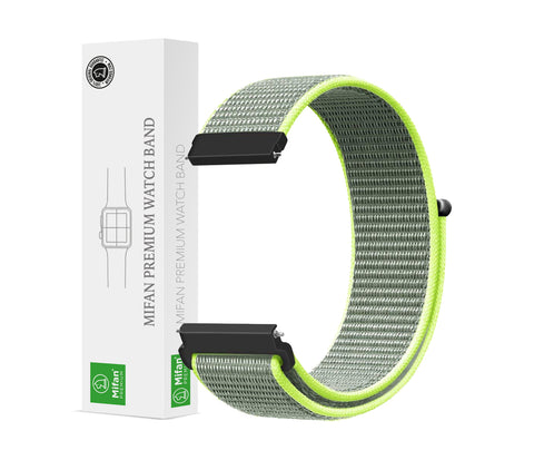 Mifan Nylon Loop Band 22mm Width Green Grey for Samsung/Huawei Garmin/Fossil - MifanGo.com