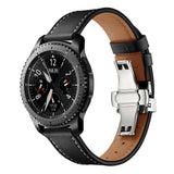Mifan Premium Genuine Leather Band 22mm Width Black with Silver Click - MifanGo.com