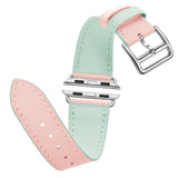 Premium Genuine Leather Band for Apple Watch 44mm/42mm Supreme Lite Pink - MifanGo.com